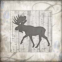 Decorative Lodge Moose 2 Fine-Art Print