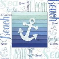 Gypsy Sea Blue 1 Framed Print