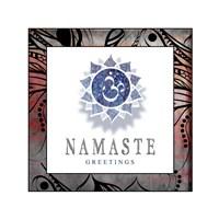 Chakras Yoga Framed Namaste V2 Fine-Art Print