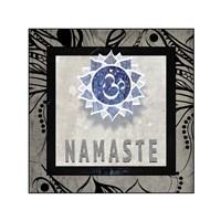 Chakras Yoga Tile Namaste V2 Fine-Art Print