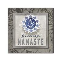 Chakras Yoga Tile Namaste V3 Fine-Art Print