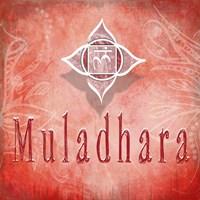Chakras Yoga Muladhara V3 Fine-Art Print