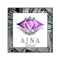Chakras Yoga Framed AJNA V3 Fine-Art Print