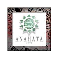 Chakras Yoga Framed Anahata V2 Fine-Art Print