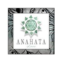 Chakras Yoga Framed Anahata V3 Fine-Art Print