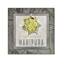 Chakras Yoga Tile Manipura V3 Fine-Art Print