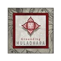 Chakras Yoga Tile Muladhara V1 Fine-Art Print