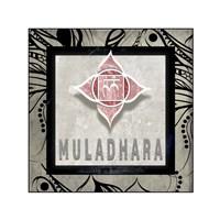 Chakras Yoga Tile Muladhara V2 Fine-Art Print