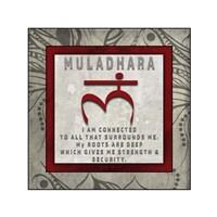 Chakras Yoga Tile Muladhara V4 Fine-Art Print