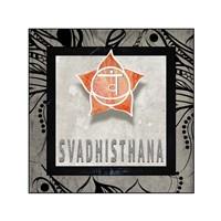 Chakras Yoga Tile Svadhisthana V2 Fine-Art Print