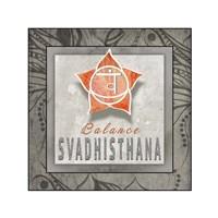 Chakras Yoga Tile Svadhisthana V3 Fine-Art Print
