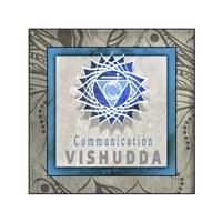 Chakras Yoga Tile Vishudda V1 Fine-Art Print