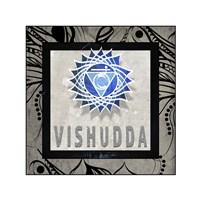 Chakras Yoga Tile Vishudda V2 Fine-Art Print