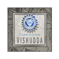 Chakras Yoga Tile Vishudda V3 Fine-Art Print