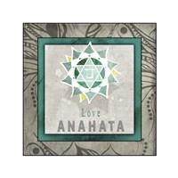 Chakras Yoga Tile Anahata V1 Fine-Art Print