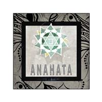Chakras Yoga Tile Anahata V2 Fine-Art Print
