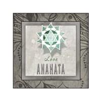 Chakras Yoga Tile Anahata V3 Fine-Art Print