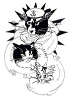 Nautical Cats Fine-Art Print