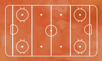 Ice Hockey Rink Orange Paint Fine-Art Print