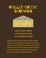 Grilled Cheese Sandwich Recipe Brown Fine-Art Print