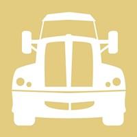 Front View Trucks Set II - Yellow Fine-Art Print