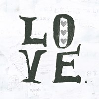 Love Gray Hearts Fine-Art Print