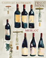 Red Wine Collage on White Fine-Art Print