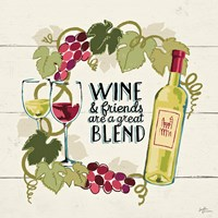 Wine and Friends V Fine-Art Print