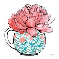 Floral Teacups I Fine-Art Print