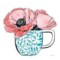 Floral Teacups II Fine-Art Print