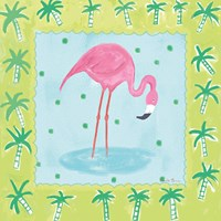 Flamingo Dance III v2 Fine-Art Print