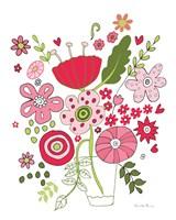 Valentines Flowers IV Framed Print