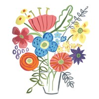 Floral Medley I Fine-Art Print