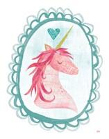 Unicorn Magic I with Border Fine-Art Print
