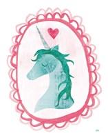 Unicorn Magic II with Border Fine-Art Print