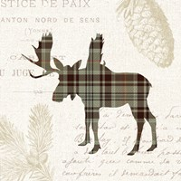 Plaid Lodge IV Tan Fine-Art Print