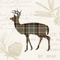 Plaid Lodge II Tan Fine-Art Print