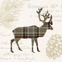 Plaid Lodge I Tan Fine-Art Print