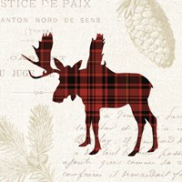 Plaid Lodge IV Fine-Art Print