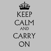 Keep Calm & Carry On - White Fine-Art Print