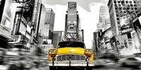 Vintage Taxi in Times Square, NYC Fine-Art Print