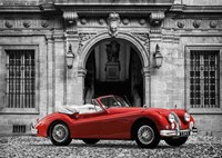Luxury Car in front of Classic Palace Fine-Art Print