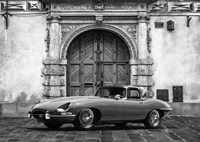 Roadster in front of Classic Palace (BW) Fine-Art Print