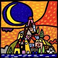 Luna sulla Collina Fine-Art Print