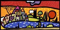 Tramonto sul Lago Fine-Art Print