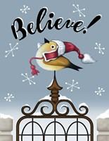Winter Bird on Gate Fine-Art Print