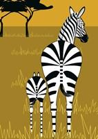 Zebra Mare and Baby Fine-Art Print