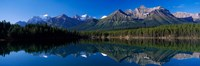 Reflection of Mountains in Herbert Lake, Banff National Park, Alberta, Canada Fine-Art Print