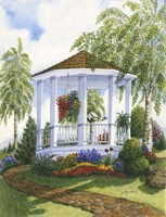 Garden Gazebo Fine-Art Print