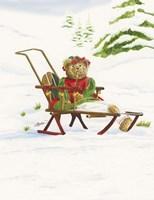 Bears Sleigh Ride Fine-Art Print